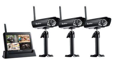 SecuFirst DWH-A059X數位無線網路監視器(一機三鏡)
